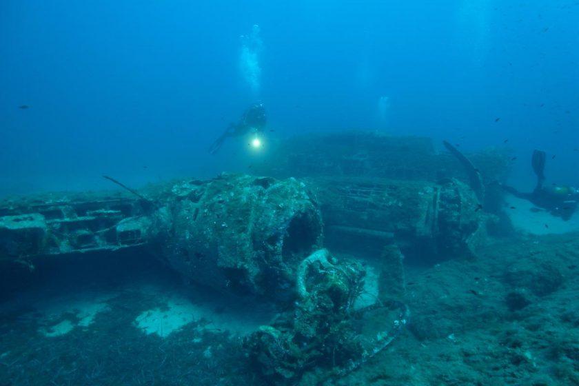 Bomber Wreck B17 Calvi Corsica