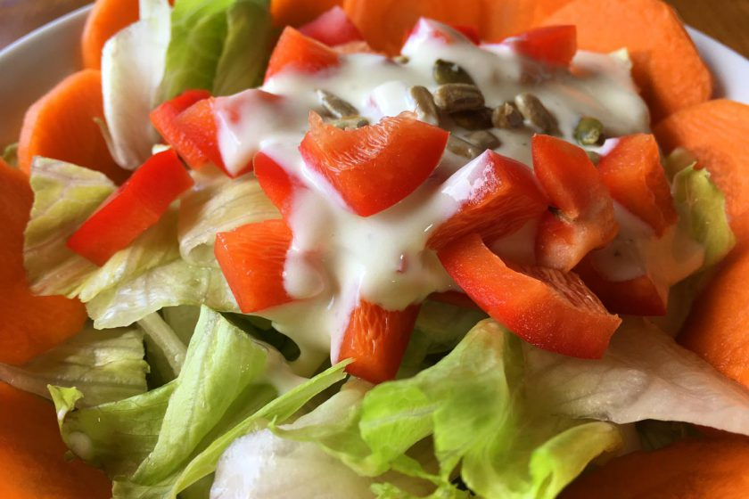 Healthy Lunch Recipe - Salad and Steak