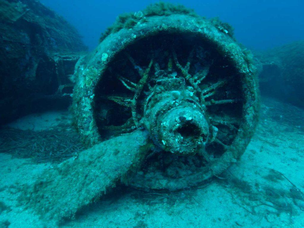 Calvi Bomber Wreck B17 Propeller