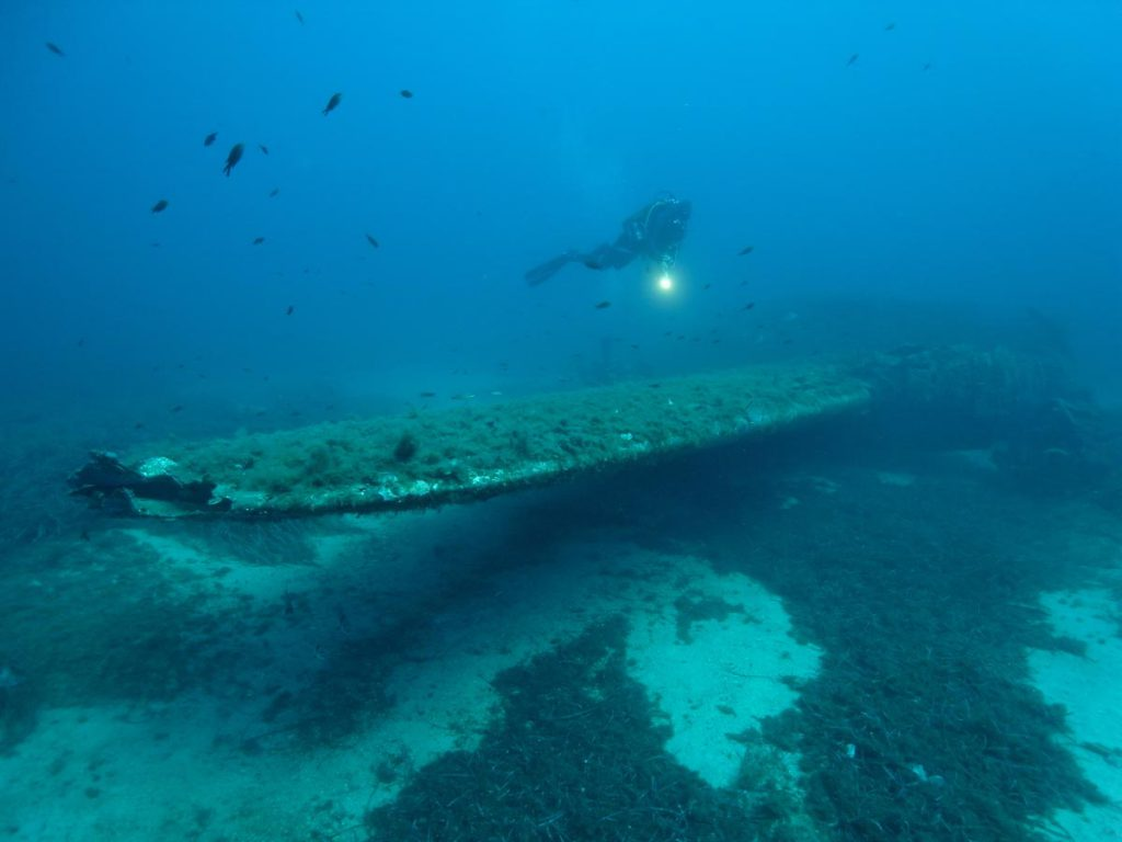 Wing Bomber B17 Wreck Calvi