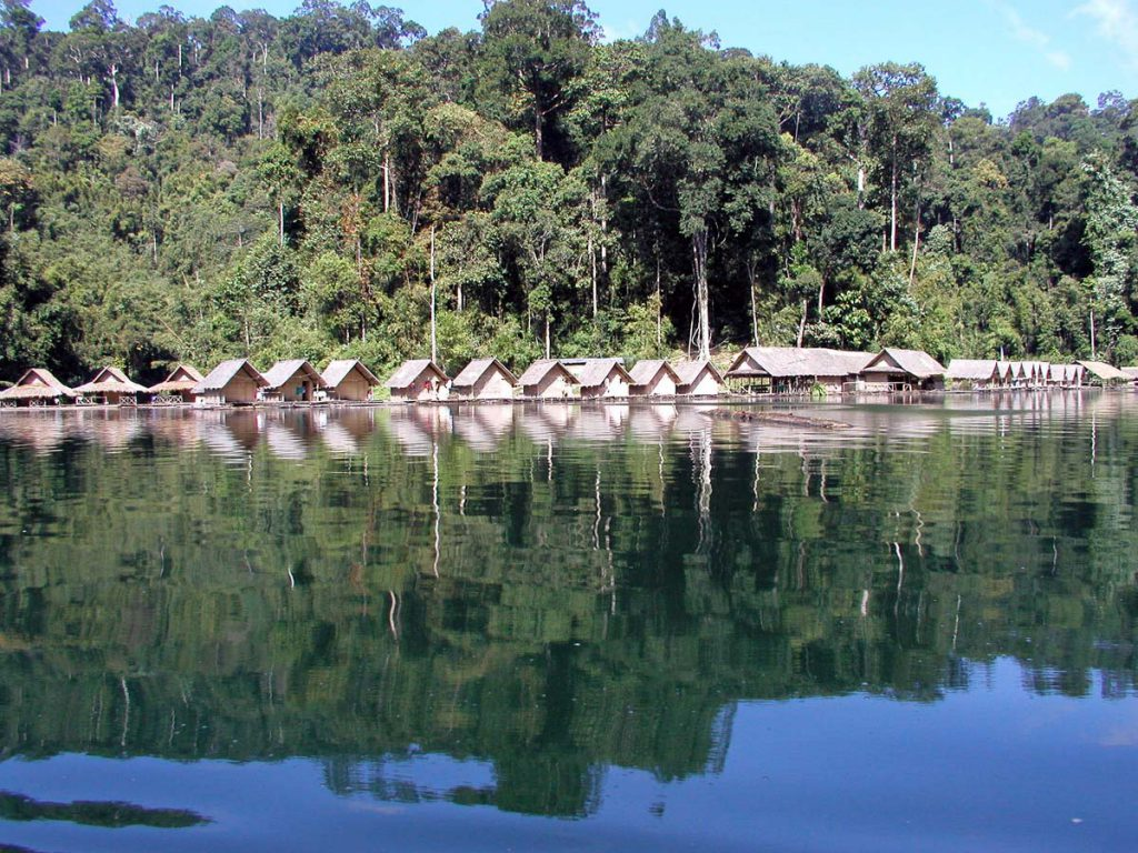 Floating Bungalows Chew Larn Lake Thailand
