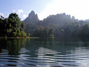 Beautiful Cheow Larn Lake Khao Sok Thailand